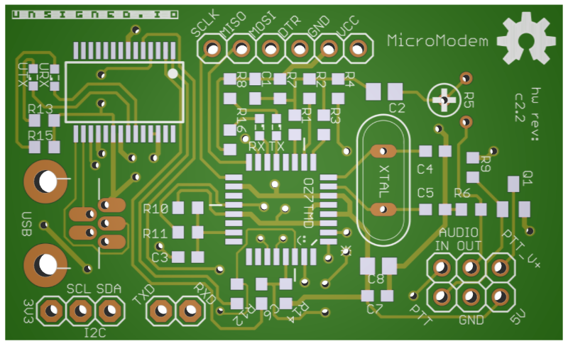 The new MicroModem PCB Layout (Page 1) / Hardware / Unsigned.IO Forum